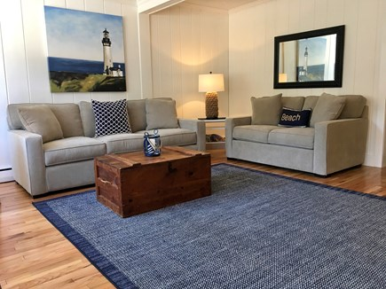 East Orleans Cape Cod vacation rental - Living room, tons of natural light and gleaming hardwood floors.