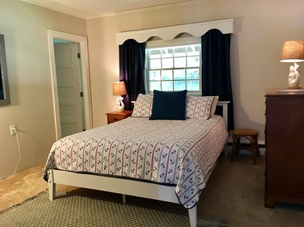 East Orleans Cape Cod vacation rental - Bedroom with queen bed, ceiling fan and large closet.