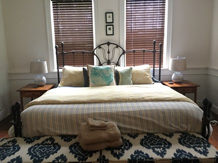 Harwich Cape Cod vacation rental - Master bedroom with king size bed and direct access to bathroom.