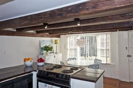 Provincetown Cape Cod vacation rental - Old low beamed ceiling in the kitchen.