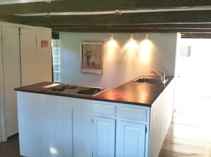 Provincetown Cape Cod vacation rental - Kitchen with large counter space and eat in dining.