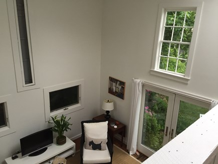 Provincetown Cape Cod vacation rental - From the lofted bedroom you see light filled living space