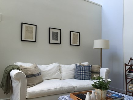 Provincetown Cape Cod vacation rental - Enjoy watching tv or listen to music in a plush sofa.
