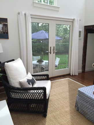 Provincetown Cape Cod vacation rental - French doors open to your patio with a great fenced yard.