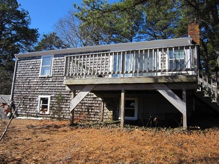 Wellfleet Cape Cod vacation rental - Waterside of house with deck for enjoying the views.