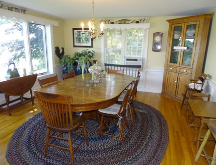 Bass River, S Yarmouth Cape Cod vacation rental - Dining room, off living room, water views