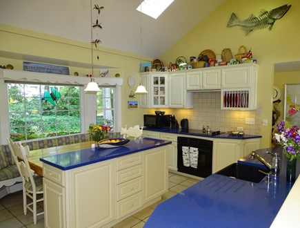 Bass River, S Yarmouth Cape Cod vacation rental - Bright, lofted kitchen with seating area