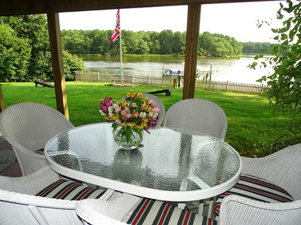 Bass River, S Yarmouth Cape Cod vacation rental - Bunk bed room opens to lower patio