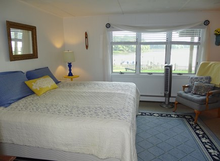 Bass River, S Yarmouth Cape Cod vacation rental - Lower bedroom w either 2 twins, or combined into King; water view