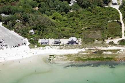 Orleans Cape Cod vacation rental - Aerial View of Home (1st house on the left)