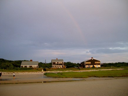 Orleans Cape Cod vacation rental - View from the flats of Cape Cod Bay (1st house on left)