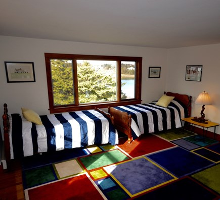 Orleans Cape Cod vacation rental - Bunk room twins by the view
