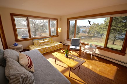 Orleans Cape Cod vacation rental - Sun room/ bedroom- sweeping views of Rachel`s Cove and Town Cove