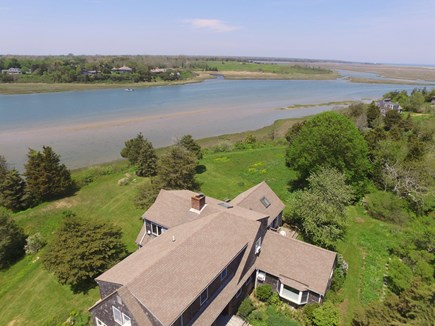 Orleans Cape Cod vacation rental - Aerial of house with views of Fort Hill, Nauset Marsh, Nauset Lig
