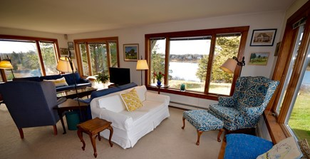 Orleans Cape Cod vacation rental - Living room- expansive water views and view to backyard