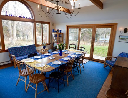 Orleans Cape Cod vacation rental - Dining room- vaulted cieling, 2 sides expansive water views