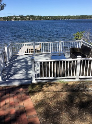 Harwich/Long Pond Cape Cod vacation rental - Upper deck with sectional seating overlooking Long Pond