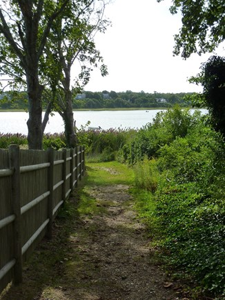 Eastham Cape Cod vacation rental - Path to dock