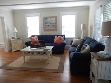 Falmouth Heights Cape Cod vacation rental - Open cozy living Room with ample seating