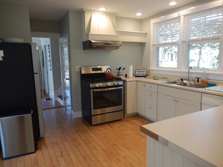Falmouth Heights Cape Cod vacation rental - Kitchen with huge window overlooking entire yard
