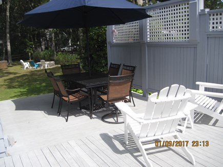 Falmouth Heights Cape Cod vacation rental - Unwind on deck with fire pit to relax in the evenings