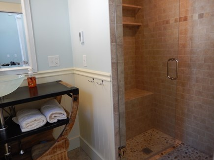 Falmouth Heights Cape Cod vacation rental - Carriage house bathroom with custom shower