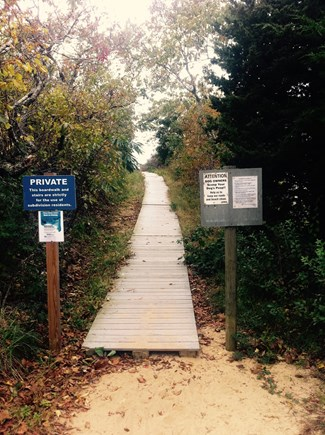 Eastham Cape Cod vacation rental - Boardwalk to private neighborhood beach on the Bay