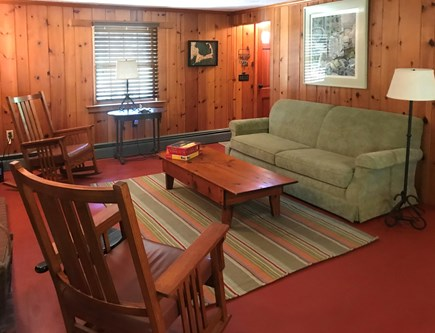 Eastham Cape Cod vacation rental - Classic pine living room with new furniture