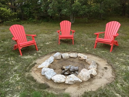 Eastham Cape Cod vacation rental - Fire pit with adirondack chairs
