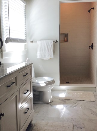 Eastham Cape Cod vacation rental - Master bath with large tiled shower