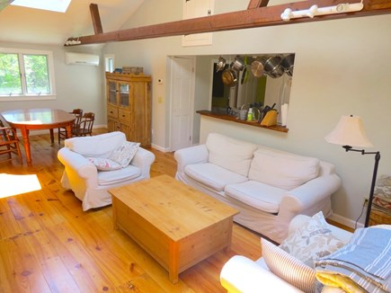 Brewster Cape Cod vacation rental - Living room/dining room w/flat screen tv and pull out couch
