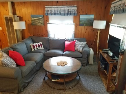 Dennisport Cape Cod vacation rental - Comfortable sectional - great for a movie night!
