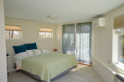 Orleans Cape Cod vacation rental - Queen Bed with Ensuite floor to ceiling windows & slider to deck