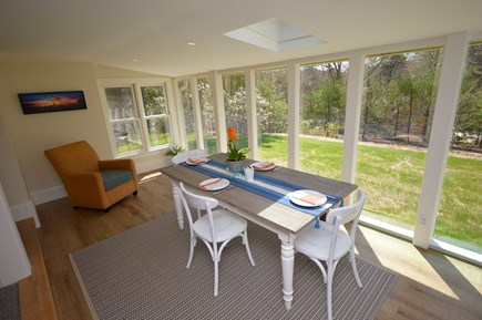 Orleans Cape Cod vacation rental - Dining room with floor to ceiling windows