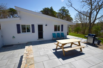 Orleans Cape Cod vacation rental - Gorgeous brand new stone patio with outdoor dining.