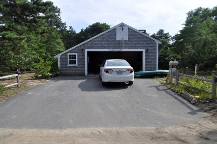 North Eastham Cape Cod vacation rental - Garage and veggie and herb garden for your use!  Canoe and kayak