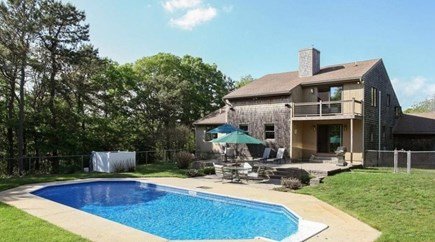 Pocasset, Bourne Pocasset vacation rental - Private back yard with in-ground pool