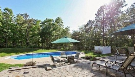 Pocasset, Bourne Pocasset vacation rental - Private back yard with patio & in-ground pool