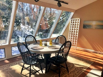 East Dennis /Scargo Hill Cape Cod vacation rental - Dining room/ sunroom. Additional table leafs and chairs available