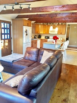 East Dennis /Scargo Hill Cape Cod vacation rental - Kitchen and living room