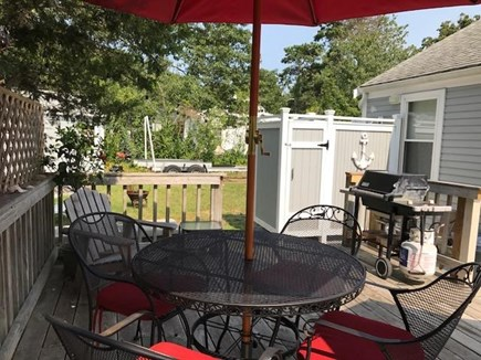 Yarmouth Cape Cod vacation rental - Private deck with gas grill & outdoor shower/dressing room area