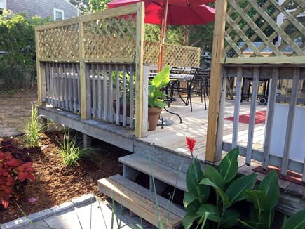 Yarmouth Cape Cod vacation rental - Entry to private back Deck