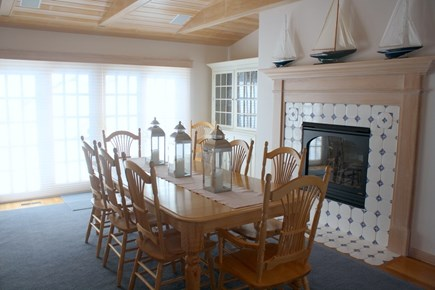 Eastham Cape Cod vacation rental - Dining Room with Fireplace
