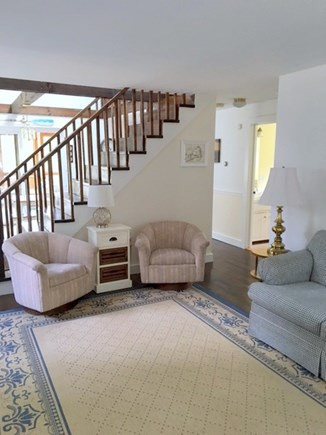Eastham - Cooks Brook Beach  Cape Cod vacation rental - Living Room to Dining & Kitchen Area