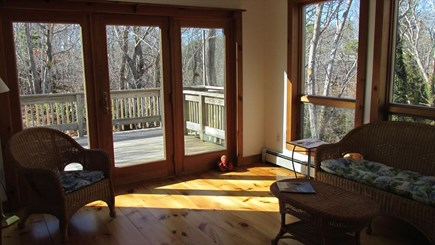 Eastham - Cooks Brook Beach  Cape Cod vacation rental - Sun Porch to Deck