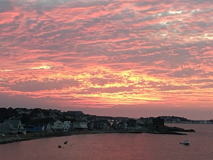 Hull MA vacation rental - Stunning sunsets from both decks.