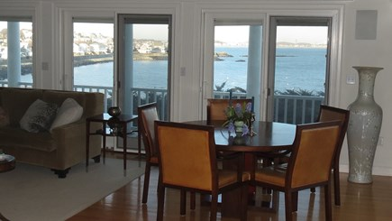 Hull MA vacation rental - Dining room with table which expands to seat eight.