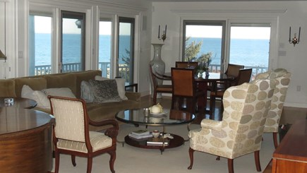 Hull MA vacation rental - Living room with baby grand piano and expansive views.