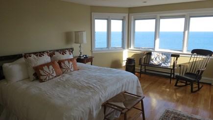 Hull MA vacation rental - King bedroom on third floor with sweeping ocean views.