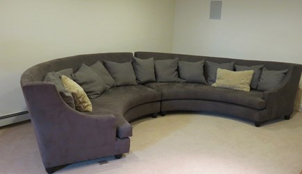 Hull MA vacation rental - Media room with built in stereo and wide screen TV.